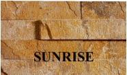Łupek na ścianie Aranzacja ściany w kamieniu, łupek SUNRISE