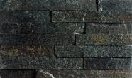Łupek na ścianie Aranzacja ściany w kamieniu, łupek METEOR