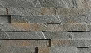 Łupek na ścianie Aranzacja ściany w kamieniu, łupek PLATINUM