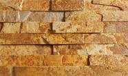 Łupek na ścianie Aranzacja ściany w kamieniu, łupek SOLARIS