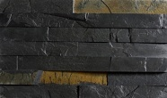 Łupek na ścianie Aranzacja ściany w kamieniu, łupek VULCANO